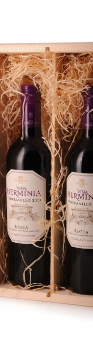 2-vaks kist Rioja Vina Herminia-1535