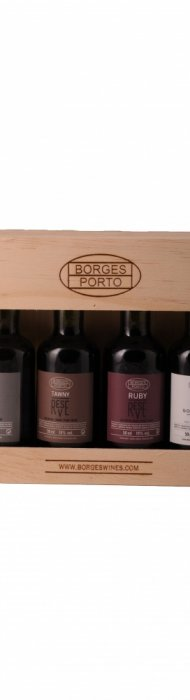 4 x 50 ml wooden giftbox Borges Reserve Ports-903